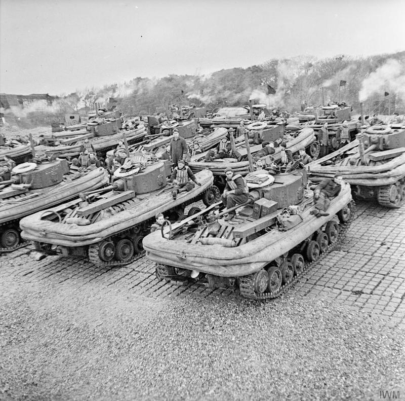 Valentine DDs lined up at Stokes Bay © IWM (H 35177)